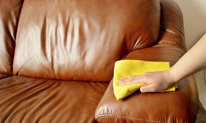 Cuidado del sofá de piel